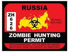 Russia Zombie Hunting Permit (Bumper Sticker)