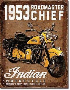 Indian Motocycles 1953 Roadmaster Chief metal sign 410mm x 320mm (de)