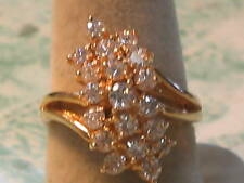 Cluster top CZ  14 kt. Gold Ladies Ring  (218*