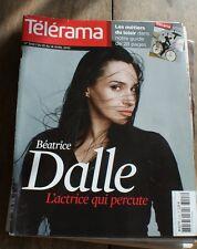 """BEATRICE DALLE en couverture TELERAMA 04/2010 + CAHIER  """" métiers du tourisme """""""