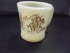 Wonderful Vintage Davy Crockett Mug - Fire King