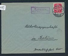 01583) OWL Landpost Ra2 Tengern über Löhne (Westf.) Brief 1939