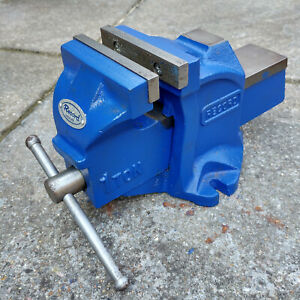 """Record Vice 4"""" / 4 Inch Jaws with Anvil, Bench Engineering small Blue"""