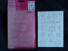 Crafts-Too/CTFD3072/C6/Embossing /Folder/Let It Snow/Snowflake