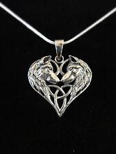 Wolf Heart Anhänger Silber Gothic Schmuck - NEU