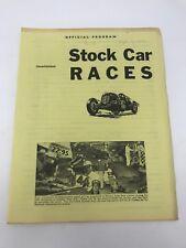 Vintage Championship Car Races Official Program 1952 Kansas Free Fair Stock Big