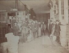 Large 1900 Card Mounted Photo Shop Interior San Francisco w/ Boxes Cod Strips