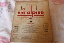 LA VIE ALPINE 21  revue du régionalisme dans les alpe française 1929