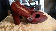 FRYE boots  ADRIENNE MARY JANE HIGH HEEL PUMPS SIZE 8.5 COGNAC leather