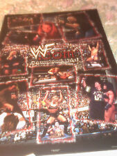 1999 WWF DOWNLOAD THIS POSTER THE ROCK STEVE AUSTIN UNDERTAKER ++ 22X34 NEW