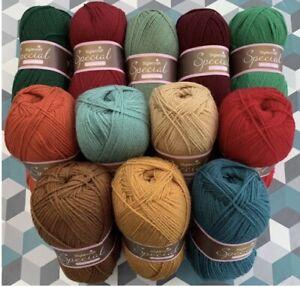 15 x 100g Stylecraft Special D/K Wool/Yarn Yuletide Crochet Attic24 Pack