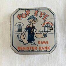 New Listing Popeye Dime Coin Register Bank Automatic Counter Antique 1929 Metal