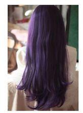 Perruques, extensions et matériel violets longs pour femme