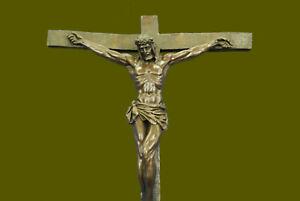 Jesus Christ Crucified  Heavenly 100% Bronze Statue Sculpture Figurine Lost Wax