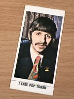 "LYONS MAID ICE CREAM ""POP STARS"" - #23 RINGO STARR The Beatles TRADING CARD"