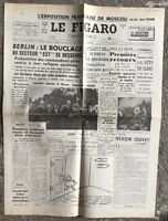 N132 La Une Du Journal Le Figaro 16 Août 1961
