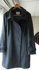 Dickins & Jones UK 12 /14 Charcoal grey wool blend coat label size is 12