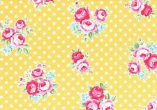 Vintage Shabby Flower Sugar Sweet Carnival Yellow Pink 31375 50 Lecien Rose Chic