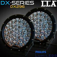 Pair 9inch Cree Black LED Driving Lights Spot bar Offroad Truck VS HID 185W 225W