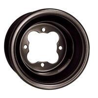 "DWT Ultimate G2 Rear Rolled Lip Wheel BLACK 8"" 8x8 3+5 4/115 Yamaha YFZ450 450"