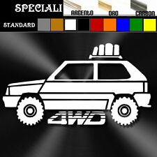 adesivo sticker fiat PANDA 4x4 offroad 4wd tuning down-out dub prespaziato,decal