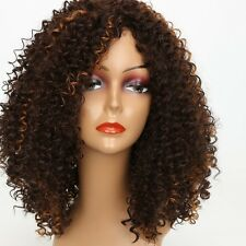 Marrone Scuro Afro parrucca Kinky Curly Sintetico
