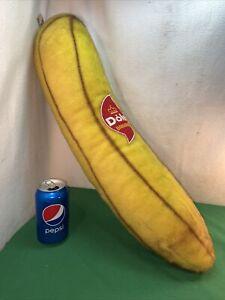 VTG RARE 1960-70's? MCM DOLE Bananas Advertising Yellow Stuffed Plush Fruit Toy