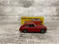 Corgi Toys 327 Red M.G.B. G.T. Toy Car, Boxed Great Condition