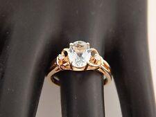 Designer Tru Glo 2.03 tcw Natural Brazillian AQUAMARINE Diamond Ring 14k YG