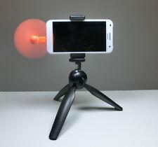 Mini 3-Bein-Stativ Halterung Foto Video Handy Kamera Halter orange + Ventilator