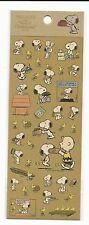 Peanuts Snoopy Good Ol Charlie Brown Stickers Brown Rare