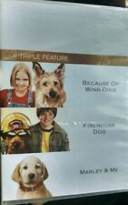 Because of Winn Dixie Marley and Me Firehouse Dog DVD 3 Disc Set 75 Anniversary