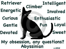 Abyssinian Cat My Obsession, Any Questions? T-shirt Choice size color