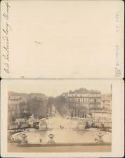 Marseille Boulevard Longchamp Vintage CDV Albumen Carte De Visite Tira