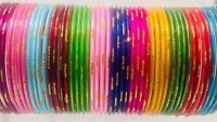 Indian Bangles Multi Colour Chudiya 48 Bangles Women Wear Fashion Bracelets New