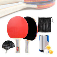 Portable Games Retractable Table Tennis Ping Pong Net Replacement w/ Balls Set