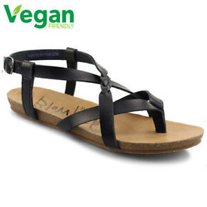 Blowfish Granola B Womens Ladies Black Vegan Gladiator Sandals Sizes UK 4-8