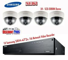 Samsung SRN-472S NVR & 4 SCD-3080N Dome Security Cameras Video Recording CCTV