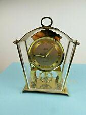Schatz Sohne Wind-Up Skeleton Brass Cased 8 day Carriage Mantel Clock, Working