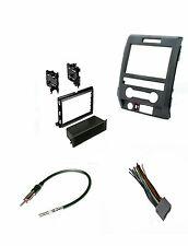 Double Single Din Radio Mount Car Stereo Install Dash Kit Wire Harness Antenna