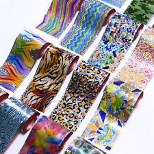 16pcs Colourful Shimmer Starry Sky Nail Art Foil Transfer Glitter Stickers 3d...