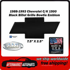 88-93 Chevy Full Size CK Truck Black Powder Coat Bowtie Grille Emblem AMI 96001K