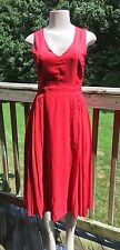 Sunday In Brooklyn Dress Anthropologie Red Accordion Pleated Midi New V Neck 4