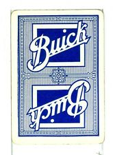 """Single Vintage Old Wide Playing Card """"Buick Car""""  Adv, Blue"""