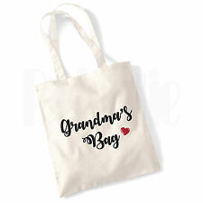 Personalised 'Grandma's Bag' Canvas Tote Bag- GIFT FOR GRANDMA MUM NAN
