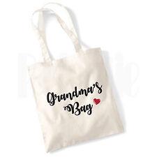 Personalised 'Grandma's Bag' Canvas Tote Bag- GIFT FOR GRANDMA MUM NAN