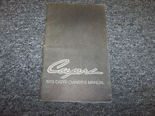 1973 Mercury Capri Coupe Original Owner Owner's Operator User Guide Manual