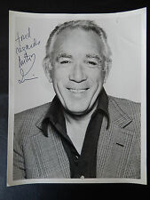 "Anthony Quinn Autographed 8"" X 10"" Photograph from Estate"
