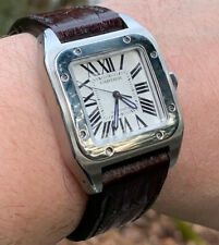Cartier Santos 100 crocodile strap band Made In Taiwan Cheergiant 卡地亞山度士鱷魚皮手工錶帶