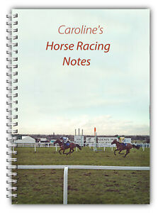 A5 PERSONALISED HORSE RACING NOTEBOOK PAD 100 LINED BLANK PAGE DAD GRANDAD GIFT
